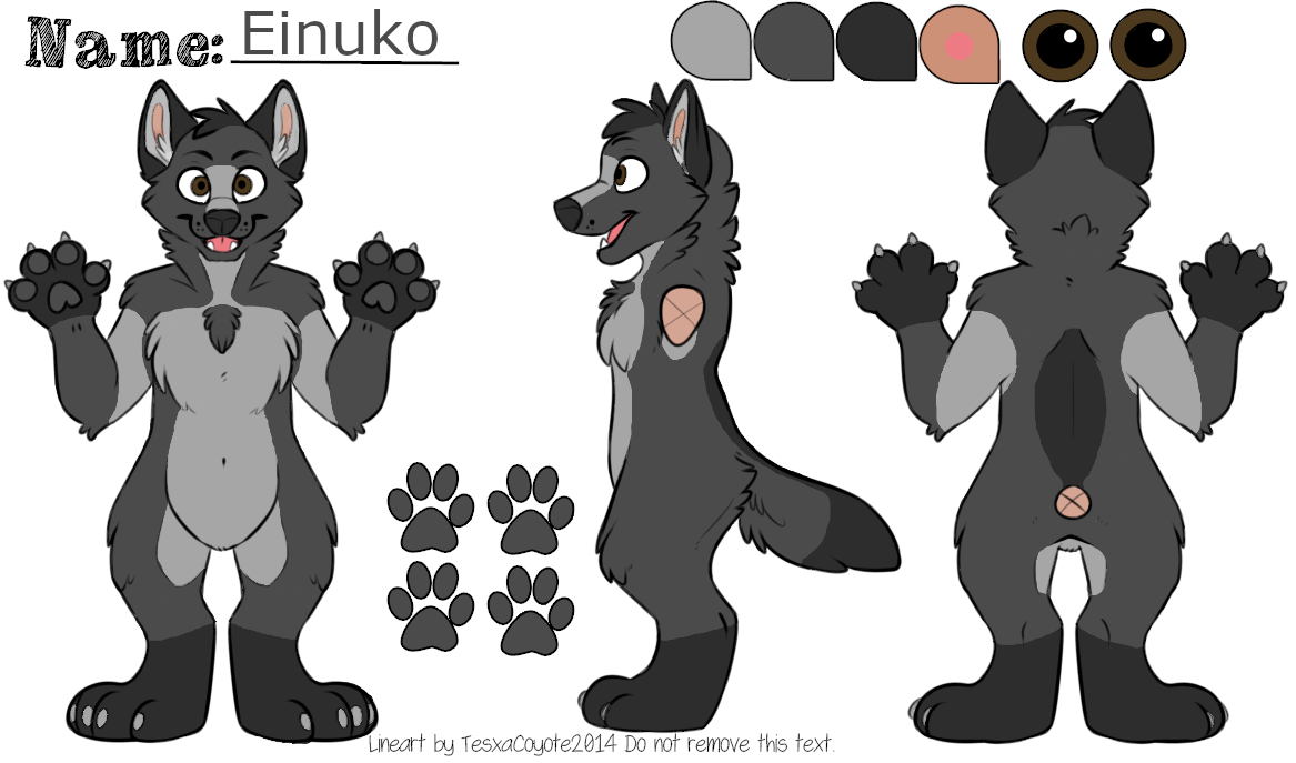 Einuko Reference finished (F2U lineart by tesxacoyote).png