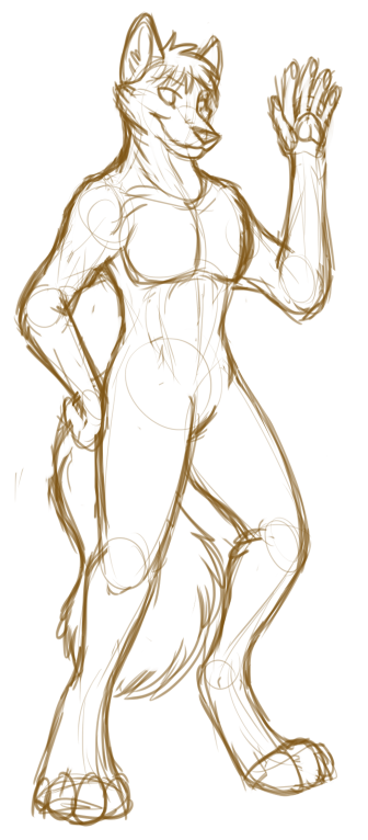 Critique/Redline Help on Anthro Anatomy? | Fur Affinity Forums